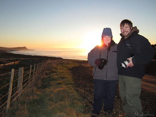 newzealand silhouette sunrise canon couple otago dunedin otagopeninsula nathanaelb allyeska ixus115hs
