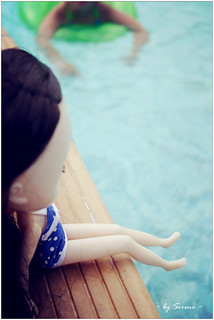 at the pool side
