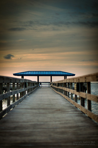 morning blue clouds outdoors 50mm dawn pier nikon marine dof tampabay florida perspective fluffy calm depthoffield coastal hdr safetyharbor pinellascounty