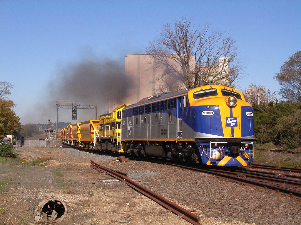 S300 and T376 glimmer in the morning sunshine on a ballast train by bukk05