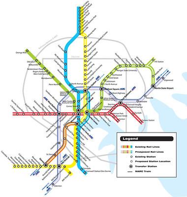 Baltimore Regional transit expansion plan
