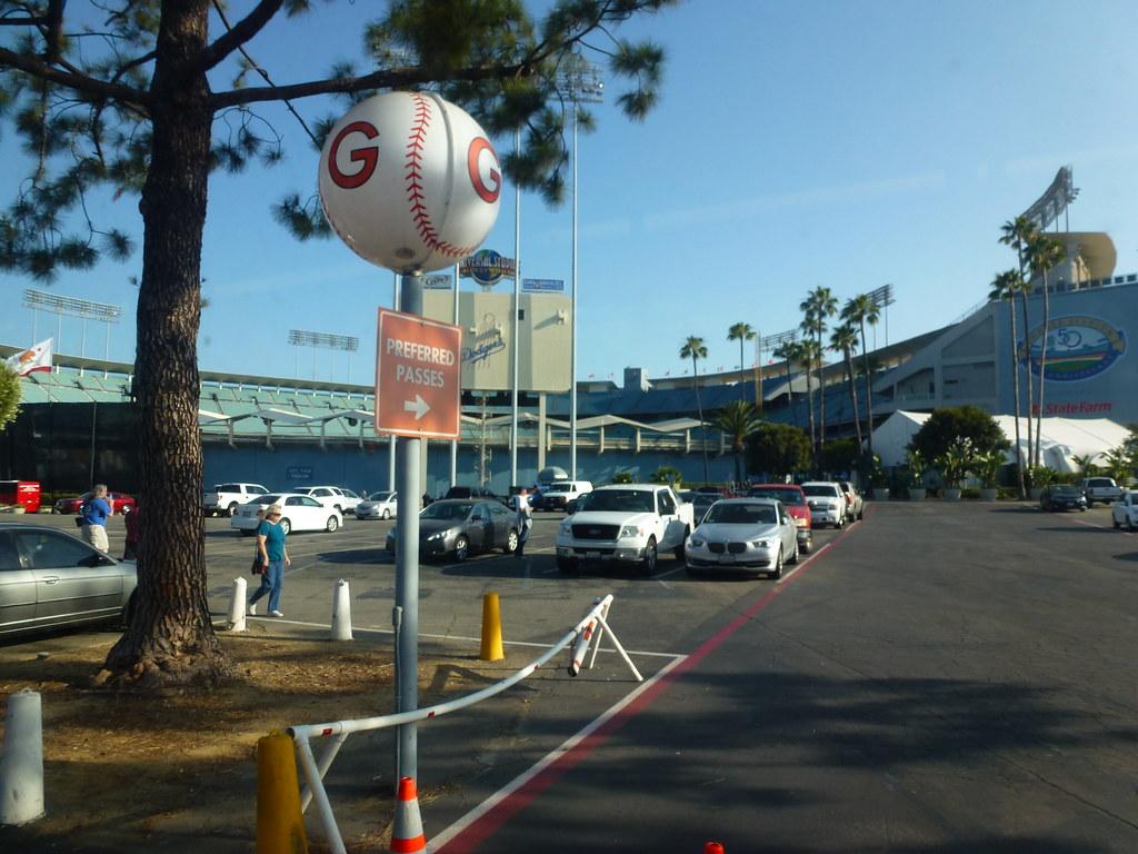 Los Angeles, CA Dodger Stadium parking light | Took the fami