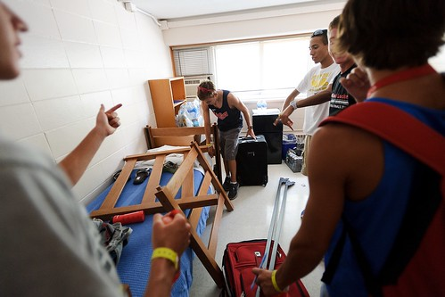 Students move into their room.