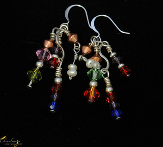 Multi-color crystals and copper beads earrings - DSC_1817.jpg | by Chiveliarzi