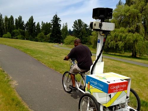 Google Maps Street View Bike in Juanita Bay Park