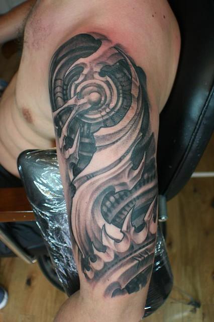 Bio-mechanic tattoo