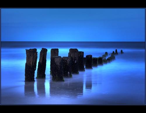 longexposure blue beach water nc northcarolina pilings bluehour hdr carolinabeach ndfilter photomatix paulmalcolm 10stopfilter