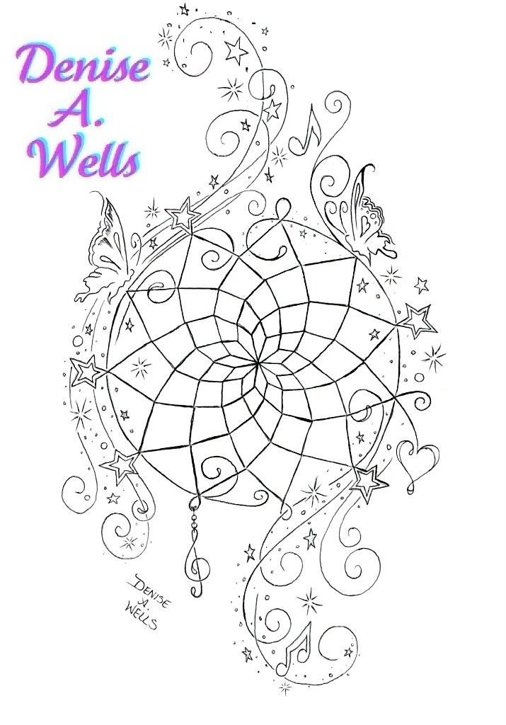 80e4e8dac0c8b ... Dreamcatcher Tattoo Design by Denise A. Wells | by ♥Denise A. Wells♥