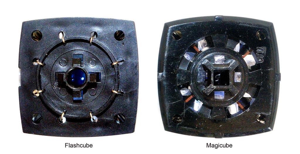 Culots d'un flashcube et d'un magicube