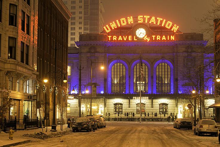 Christmas In Denver Colorado.Denver Union Station Christmas Lights Snow Denver Co Flickr