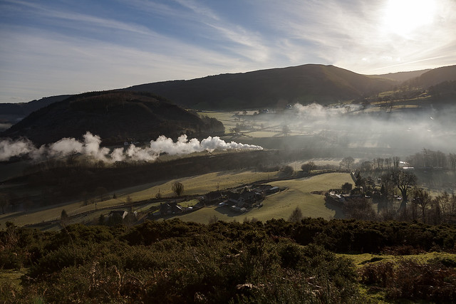 steam in the Dee valley