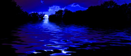 sunset sky sun moon water flood dreamland flamingpear