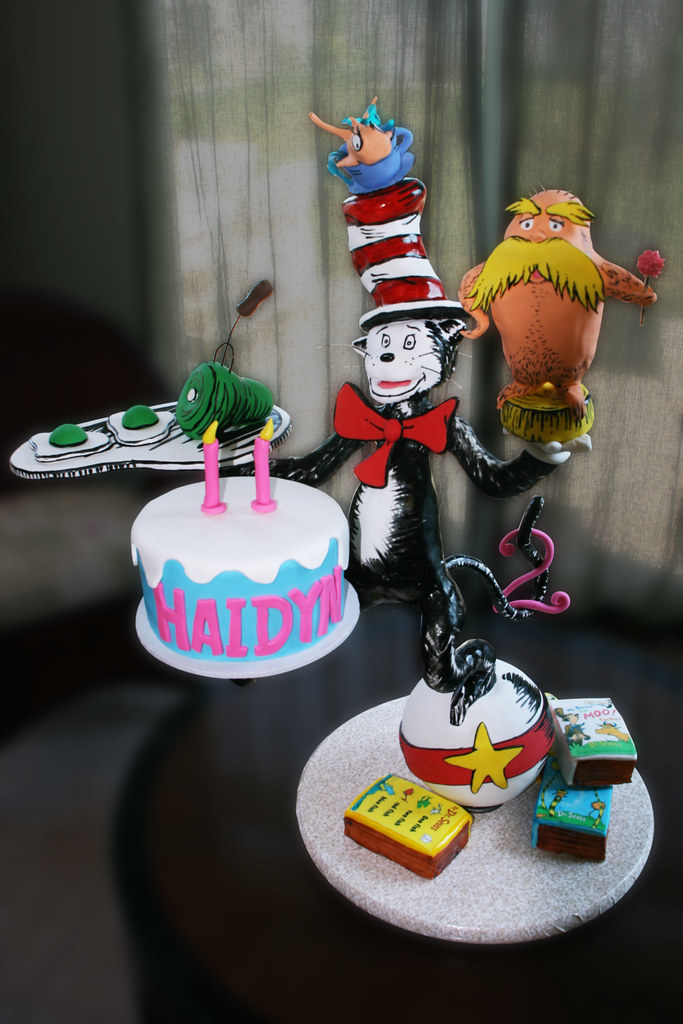 Stupendous Dr Seuss Cat In The Hat 2Nd Birthday Cake Decorated In F Flickr Birthday Cards Printable Nowaargucafe Filternl