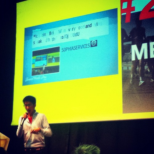 My web agency is on ICTSpring TwittWall with Brian Wong | by Marc Ben Fatma - visit sophia.lu and like my FB pa