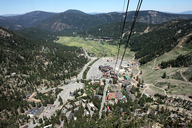 Squaw Village from Aerial Tram, Squaw Valley