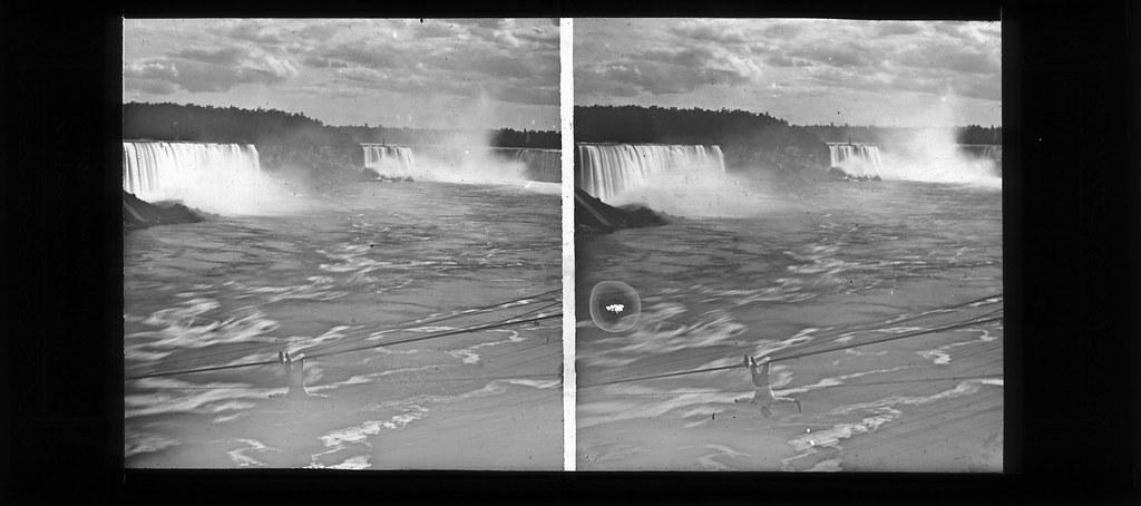 Platt D  Babbitt - Blondin on Rope, Niagara Falls, 1859 | Flickr