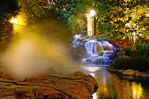 california lighting travel trees plants fish nature water rock garden hotel pond gardening falls jungle waterfalls koi manmade orangecounty attraction formations gyser blinkagain