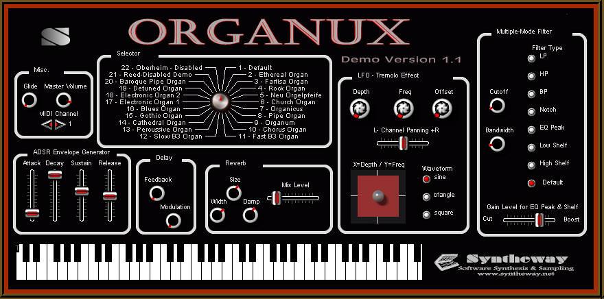 Virtual Organ VST Plugin Musical Instrument Software Synth