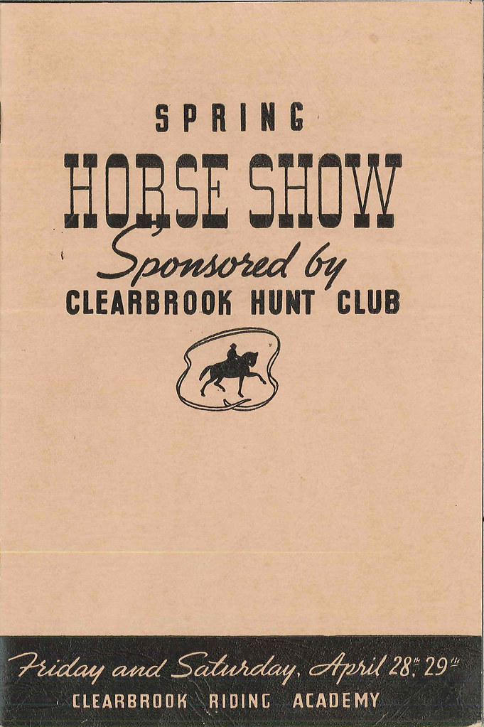 Horse show program, 1939 | Found in Vertical File 1120, Seat