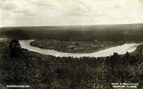 Norsk postkort fra Karasjok