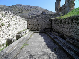 The Public lavatories (latrine) of the palaestra, Philippi | by Following Hadrian