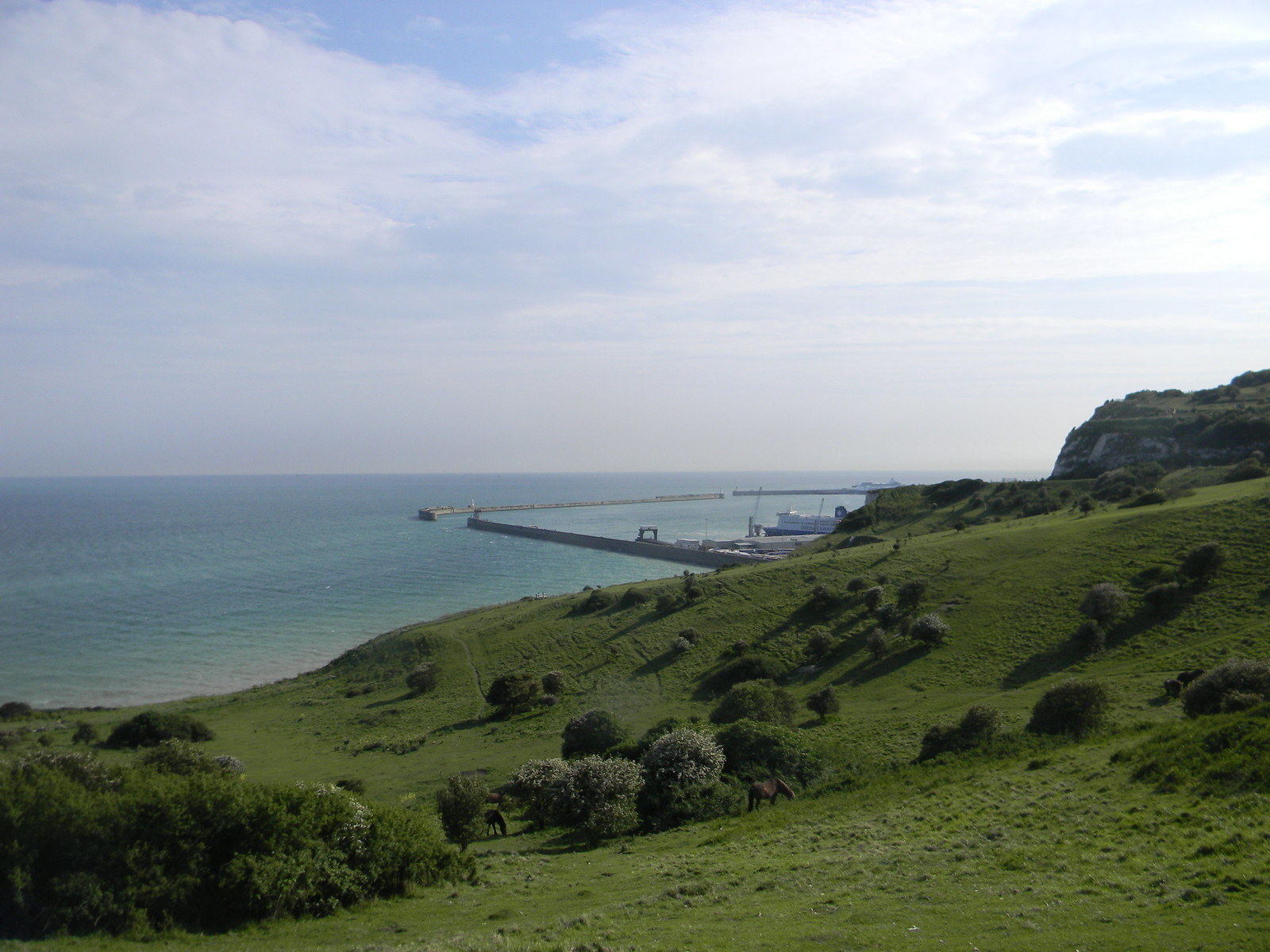 The harbour comes into view Deal to Dover