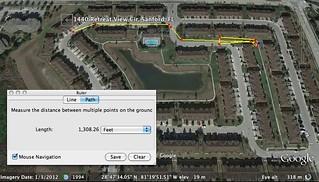 minimum distance TM travels until GZ leaves car according to reenactment