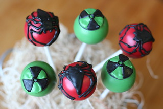 Spiderman and Hulk Logo Cake Pops | by Sweet Lauren Cakes