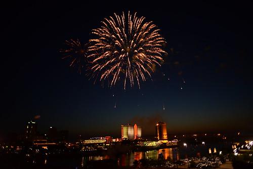 city parish louisiana day fireworks 4th casino horseshoe independence fourth caddo shreveport bossier