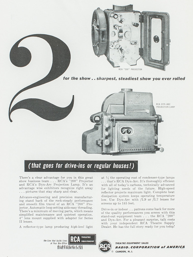 2 for the Show | RCA 200 projector head and Dyn-Arc carbon-a… | Flickr