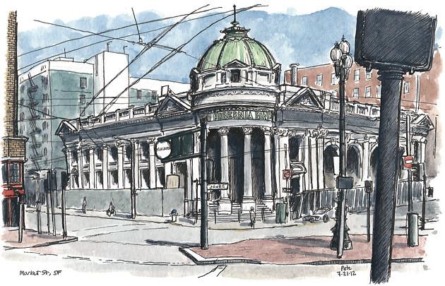 hibernia bank building, san francisco