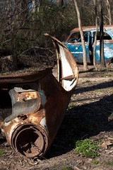 Abandoned Car in Shelby Farms Park
