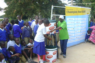 WASH United activities; teaching proper hand washing | by Sustainable sanitation