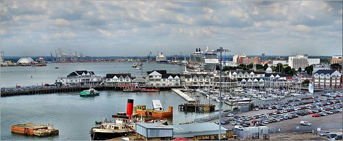 Southampton Docks 1. Panorama. Nikon D3100.  DSC_0122_0123 | by Robert.Pittman