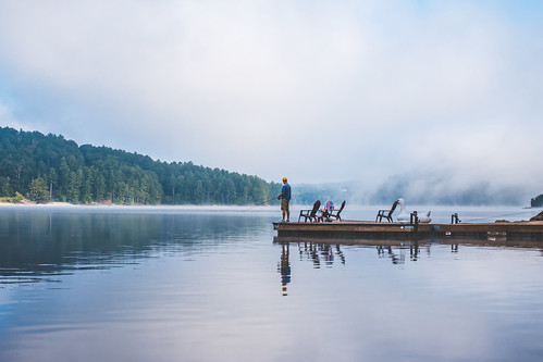 fishing mountains northcarolina lake dock lakeglenville outdoors fog reflections appalachainmountains september 2016 labordayweekend canon70d canon35mmf2isusm lightroomcc