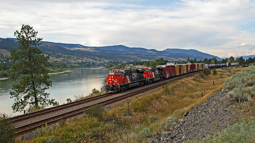 train railway railroad mainline cnr kamloops river