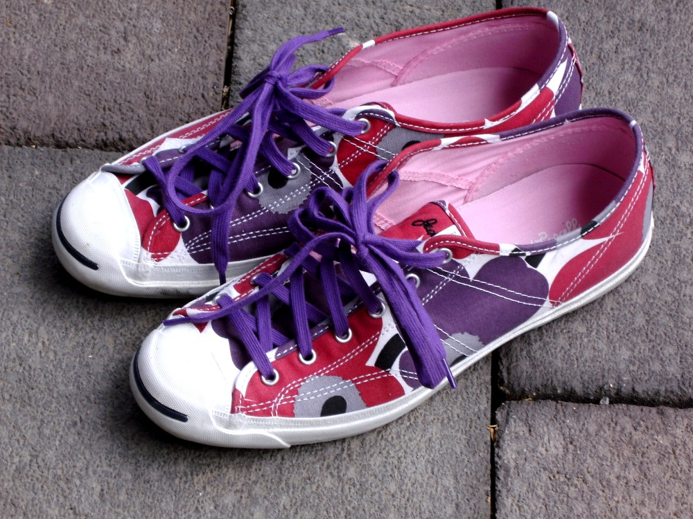 buy online b830b 82e36 ... Converse Marimekko Jack Purcell Helen Unikko Red Purple   by  Stoffturnschuh
