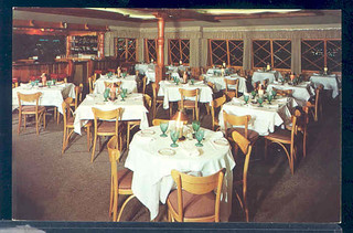 postcard interior Marquis Restaurant at 8240 Sunset Strip in Hollywood, California.   by richardschave