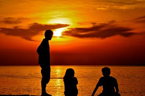 sunset silhouettes johor muar thegalaxy westmalaysia