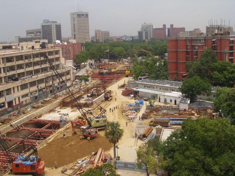 Patel Chowk Metro under Construction 2