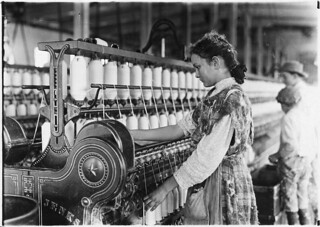 Spinner in Vivian Cotton Mills. Been at it 2 years. Where will her good looks be in 10 years? Cherryville, N.C, November 1908