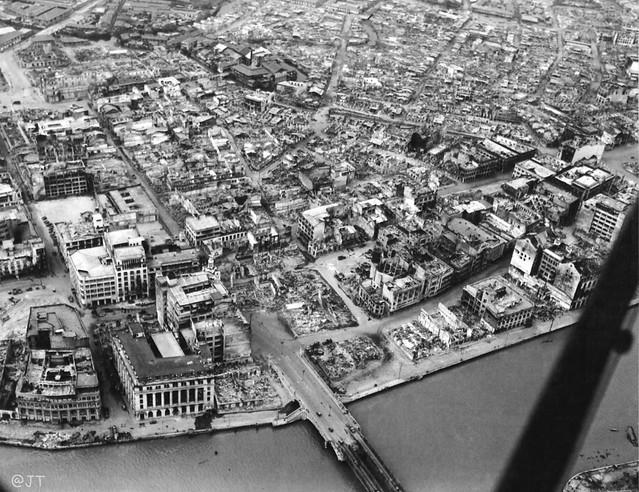 Escolta district of Manila, Philippines, 1945
