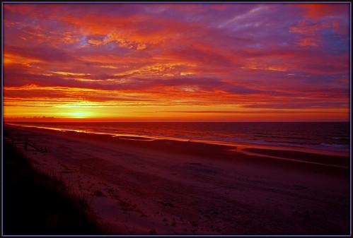 ocean sky beach clouds sunrise nc waves northcarolina topsailisland topsailbeach nikkor1685vr topsailisland2012