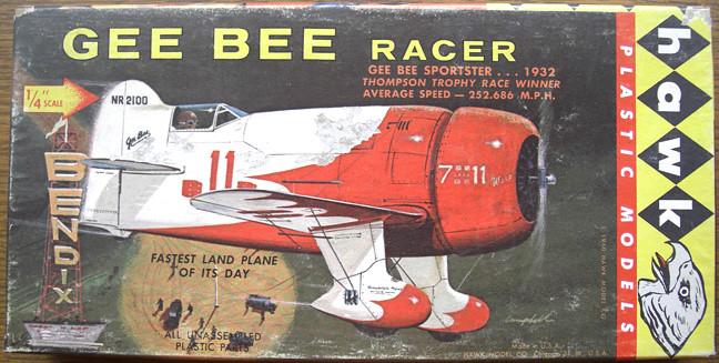 Gee Bee Racer – Hawk Plastic Models | Vintage aircraft model