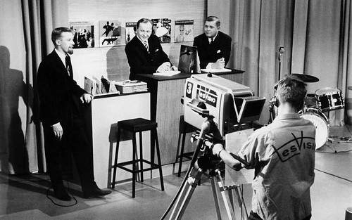 Presenter Antti Einiö in the Tesvisio studio | by Archives of the Finnish Broadcasting Company Yle