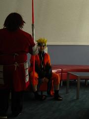 Naruto and another ninja from Naruto