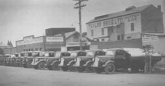Butter Factory, Eighth Street - Delivery Trucks - c1940
