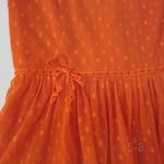 50315剪标)网纱波点裙(橙黄.宝蓝)S.M.L 胸84   长88 (2)