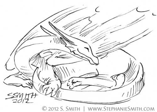 Doodleswap #12 Tiny Dragon #7   by artsteph6