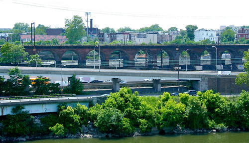 Another photo from my photographic adventures in Philly. (train bridge & highway) Edited with iPhoto & Gimp. | by Soapbox Girl (Carol Anne)
